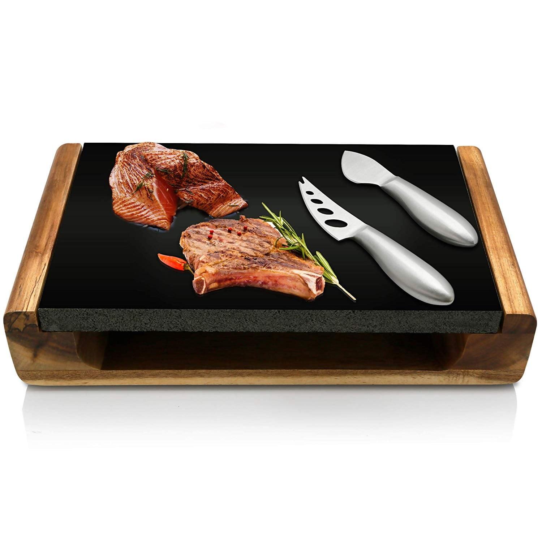 NutriChef Hot Lava Stone Steak Plate