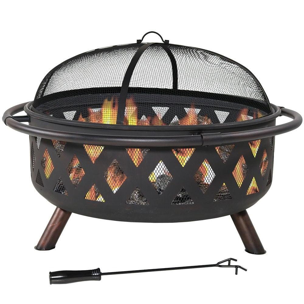 Sunnydaze Crossweave Outdoor Fire Pit