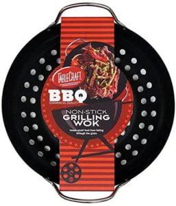 Tablecraft BBQ Non-Stick Coating Round Grilling Wok