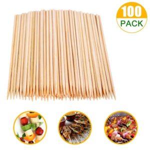SRXING Bamboo Skewers, Kebab Sticks, Wooden Skewers