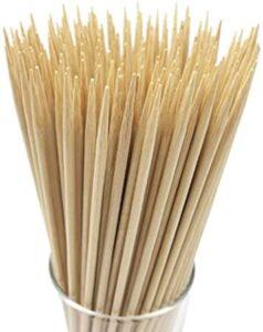 "HOPELF 12"" Natural Bamboo Skewers for Kabob"