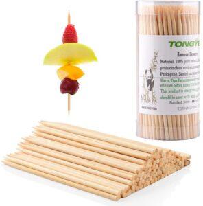 TONGYE Premium Natural BBQ Bamboo Skewers for Shish Kabob