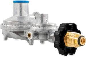 Camco 59333 Horizontal Two Stage Propane Regulator with POL